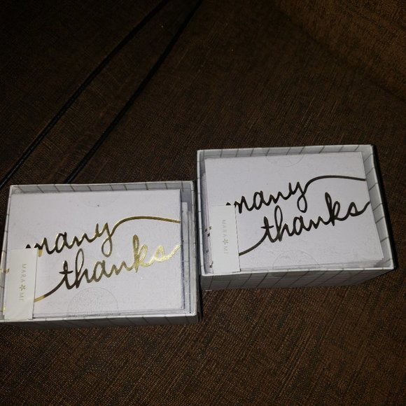 100 Thank You Cards Gold Foil- Many Thanks…